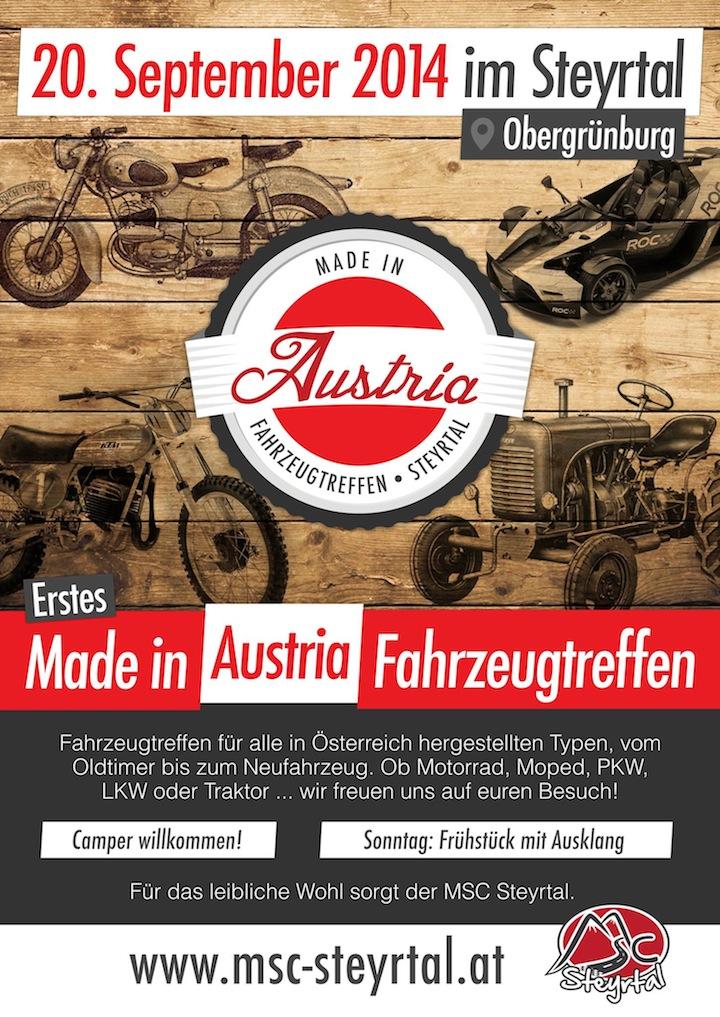 Made in Austria Fahrzeugtreffen im Steyrtal
